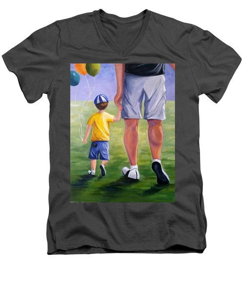 Me And My Dad Men's V-Neck T-Shirt
