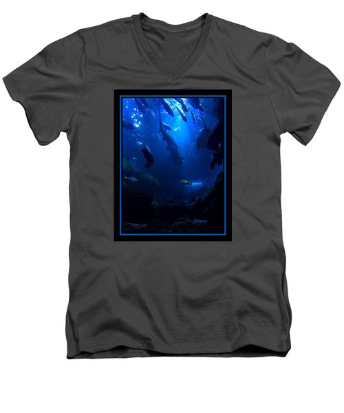 Men's V-Neck T-Shirt featuring the photograph Me by Steven Lebron Langston