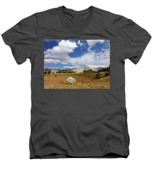 John Muir Trail High Sierra Camp Meadow Men's V-Neck T-Shirt