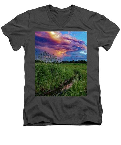 Meadow Lark Men's V-Neck T-Shirt