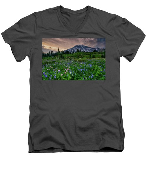 Meadows Of Heaven Men's V-Neck T-Shirt