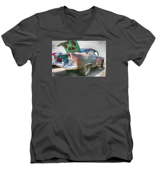 Mean Streets Men's V-Neck T-Shirt by Michael Cleere