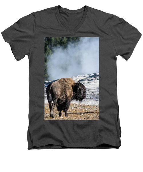 Men's V-Neck T-Shirt featuring the photograph Meandering by Colleen Coccia