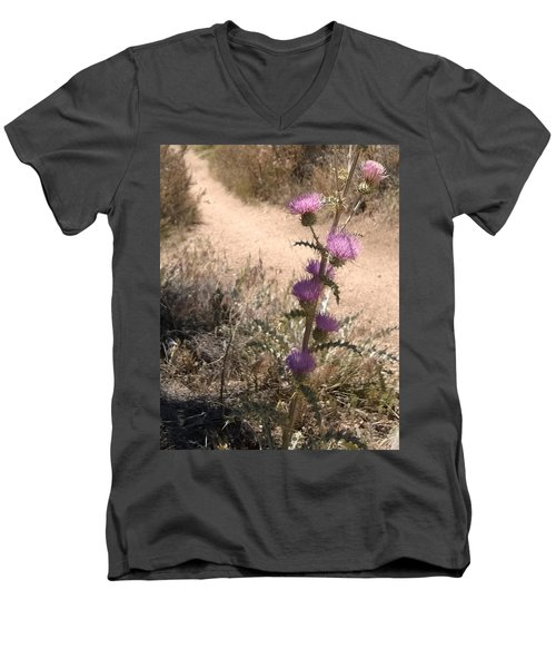 Meaner Than They Look Men's V-Neck T-Shirt by Claudia Goodell