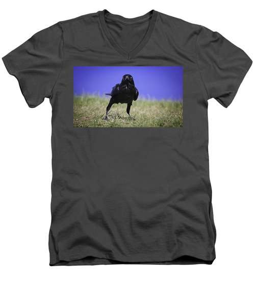 Menacing Crow Men's V-Neck T-Shirt