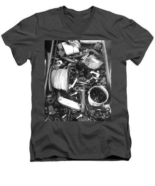 Mechanics Bane Men's V-Neck T-Shirt by WaLdEmAr BoRrErO