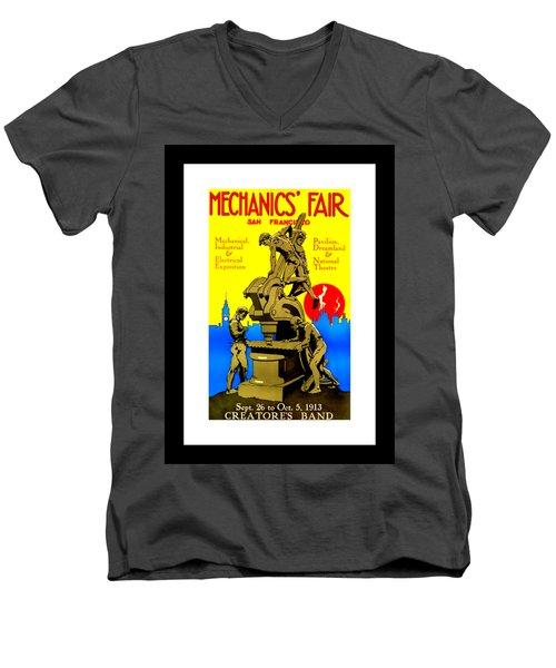 Mechanics Fair San Francisco 1913 II Wesley De Lappe Men's V-Neck T-Shirt