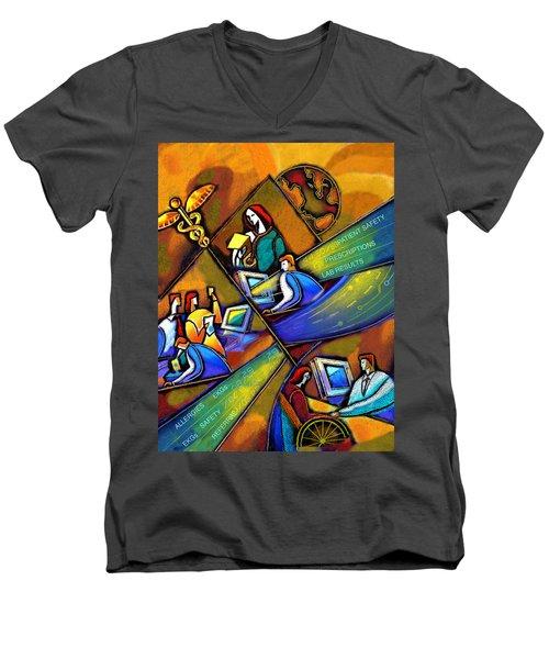 Medicare And Information Technology Men's V-Neck T-Shirt