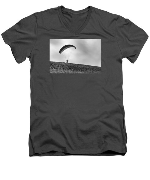 Men's V-Neck T-Shirt featuring the photograph No by Hayato Matsumoto
