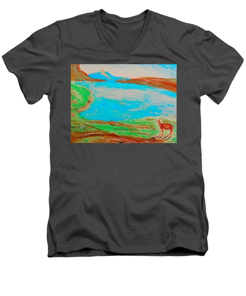 Medicine Lake Men's V-Neck T-Shirt