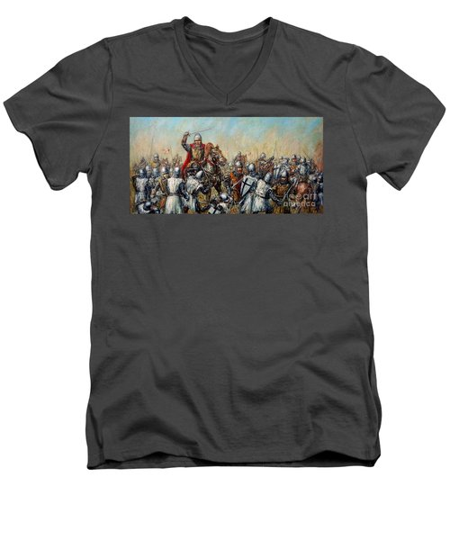Medieval Battle Men's V-Neck T-Shirt