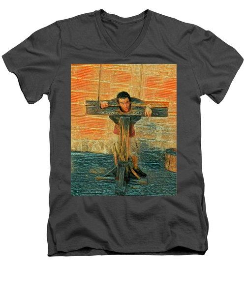 Medieval Dungeons Men's V-Neck T-Shirt
