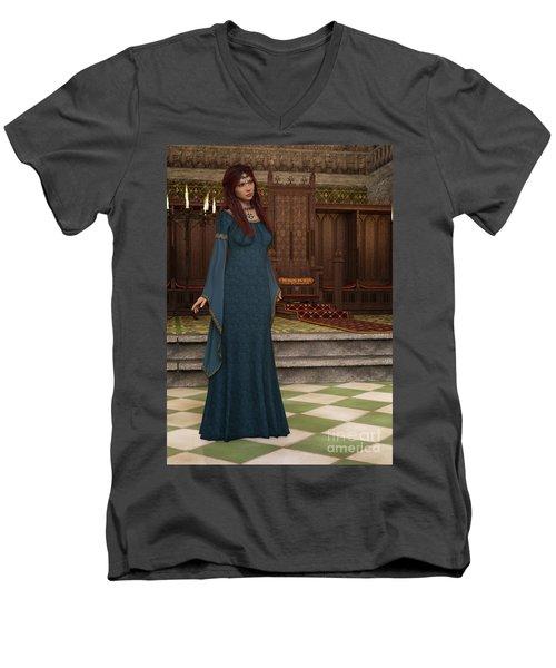 Medieval Queen Men's V-Neck T-Shirt