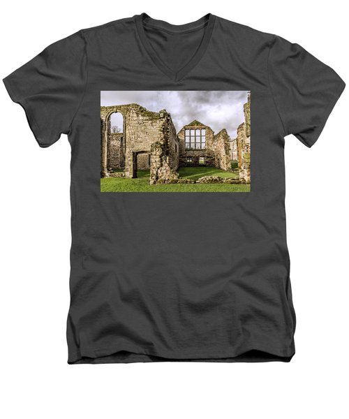 Men's V-Neck T-Shirt featuring the photograph Medieval Ruins by Nick Bywater