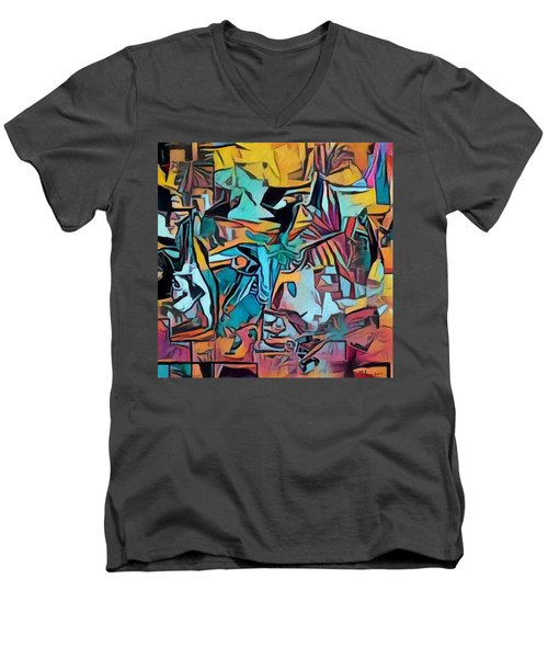 Meditating On And Contemplating Abstract Art Creates A Space Of Pure Perception Where Hope And Fear  Men's V-Neck T-Shirt