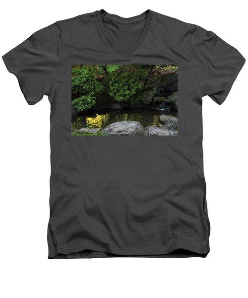 Meditation Pond Men's V-Neck T-Shirt
