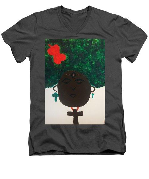 Meditation Queen  Men's V-Neck T-Shirt