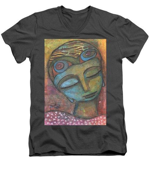 Meditative Awareness Men's V-Neck T-Shirt