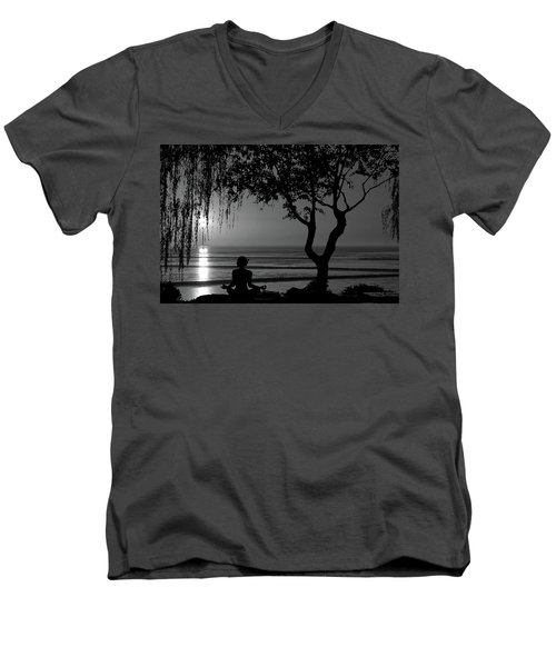 Meditative State Men's V-Neck T-Shirt