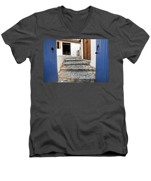 Mediteranean Old House Men's V-Neck T-Shirt