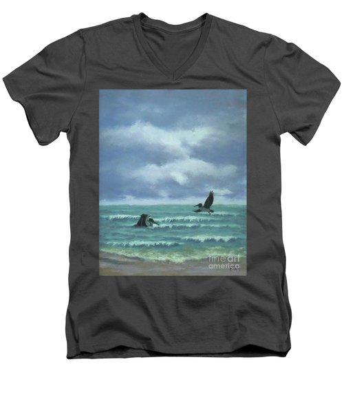 Meet Me At Hatteras Men's V-Neck T-Shirt