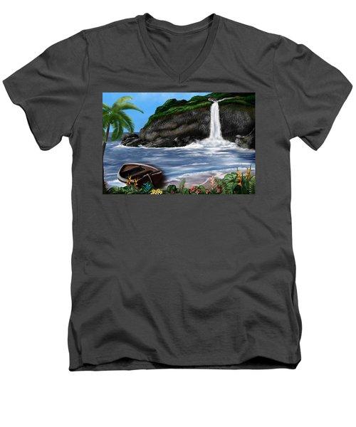 Meet Me At The Beach Men's V-Neck T-Shirt