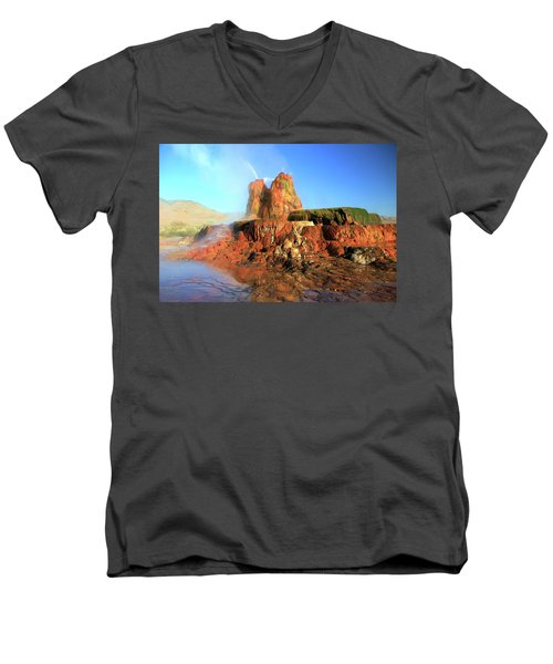 Meet The Fly Geyser Men's V-Neck T-Shirt