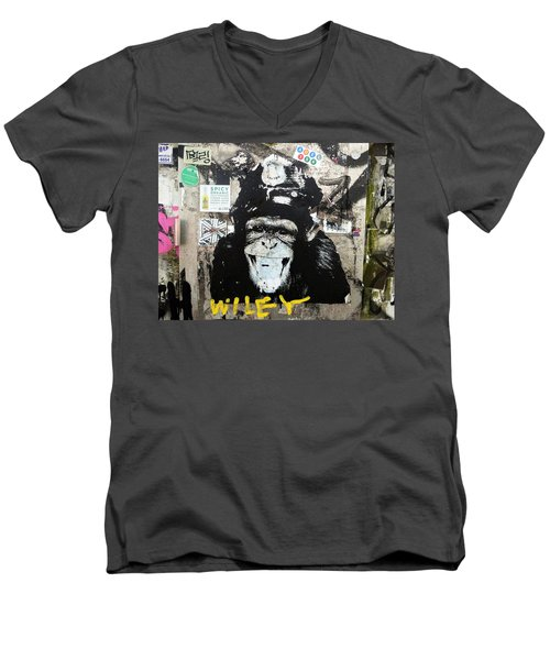 Meet Wiley In New York  Men's V-Neck T-Shirt by Funkpix Photo Hunter