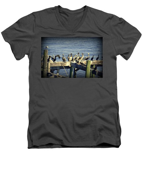 Meeting Of The Minds Men's V-Neck T-Shirt