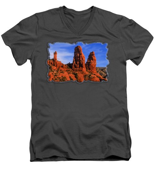 Megalithic Red Rocks Men's V-Neck T-Shirt