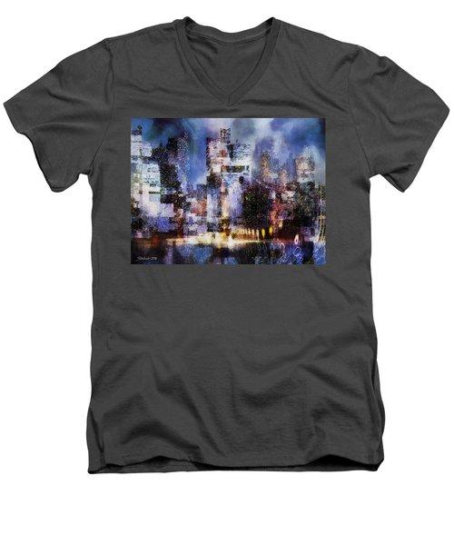 Megapolis II Men's V-Neck T-Shirt