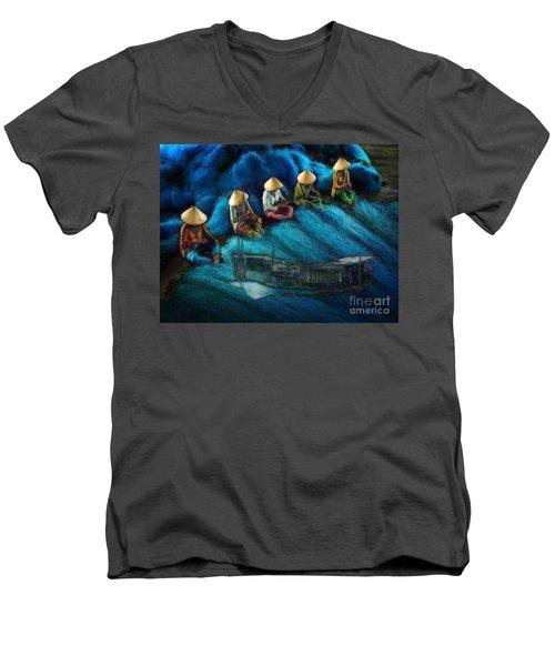 Mekong Weavers Men's V-Neck T-Shirt