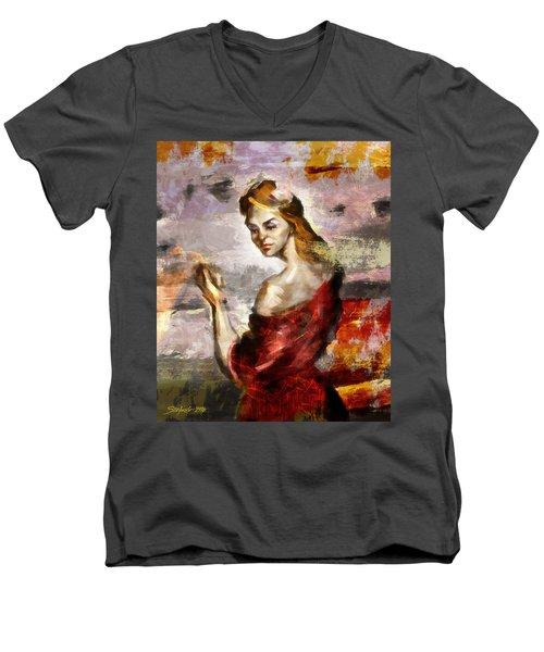 Melancholia II Men's V-Neck T-Shirt
