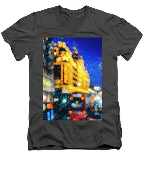Melancholic London Lights  Men's V-Neck T-Shirt