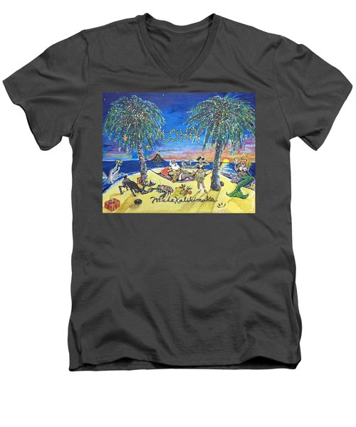 Mele Kalikimaka Men's V-Neck T-Shirt