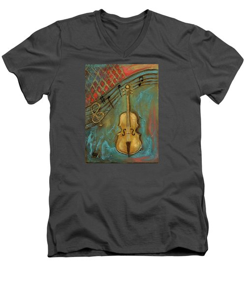 Mello Cello Men's V-Neck T-Shirt
