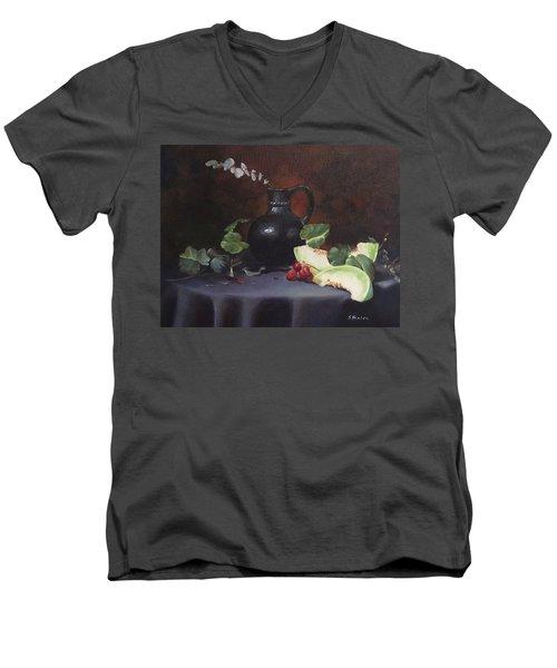 Melon And Vase Men's V-Neck T-Shirt