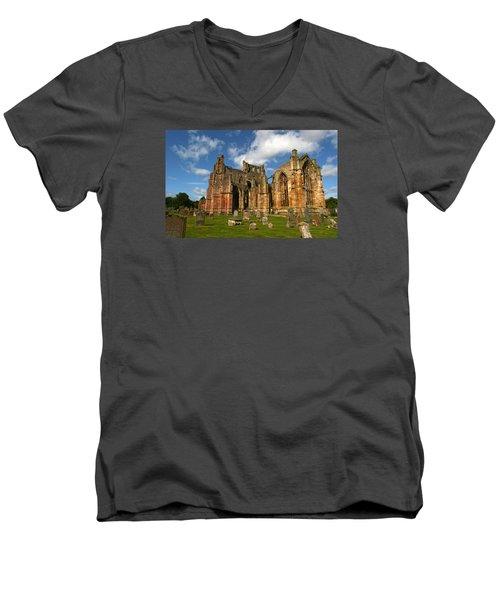 Melrose Abbey Men's V-Neck T-Shirt