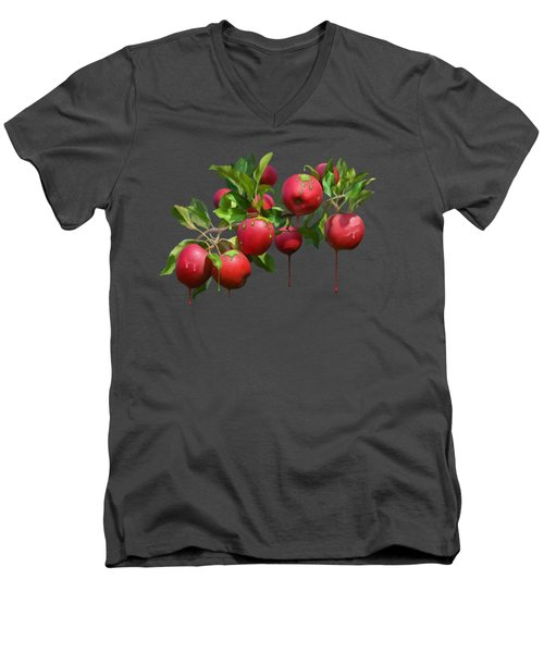 Melting Apples Men's V-Neck T-Shirt by Ivana Westin