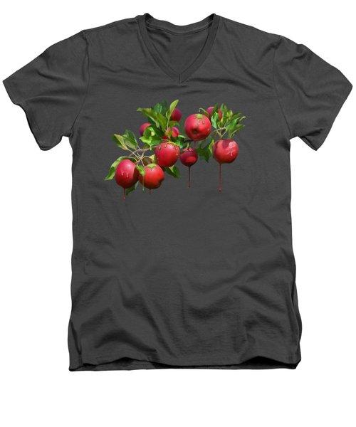 Melting Apples Men's V-Neck T-Shirt