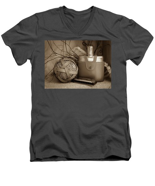 Memories Of The Past Men's V-Neck T-Shirt by Patrice Zinck