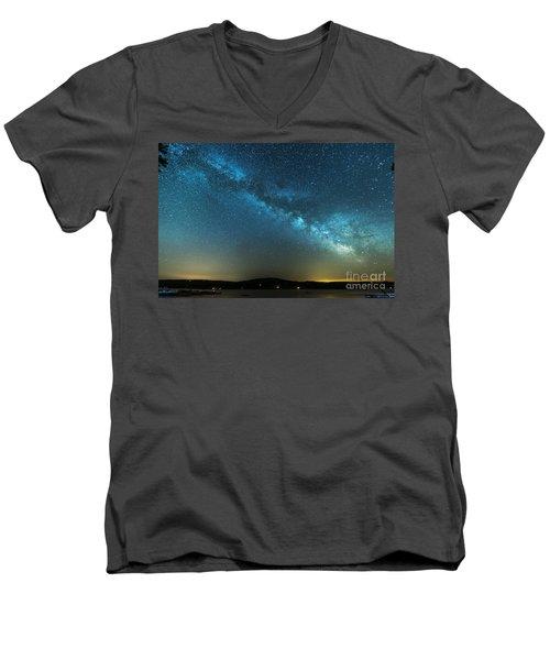 Memorial Day Milky Way Men's V-Neck T-Shirt