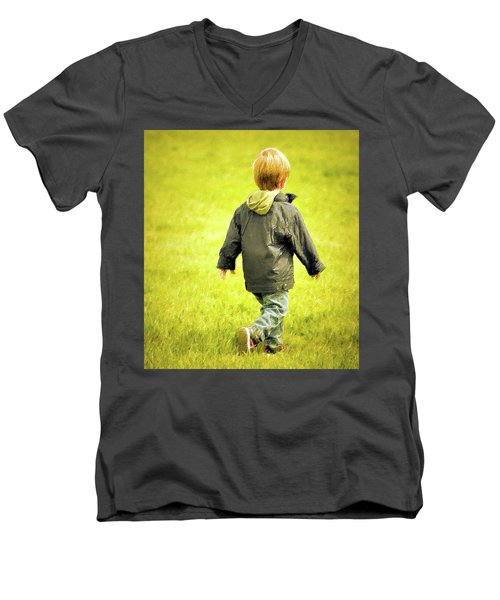 Men's V-Neck T-Shirt featuring the photograph Memories... by Barbara Dudley