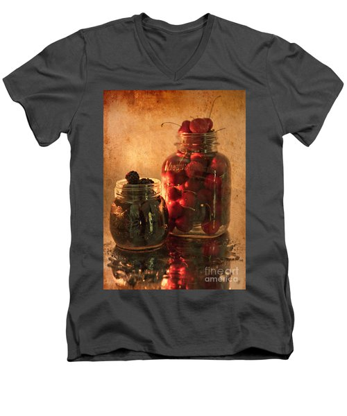 Memories Of Jams, Preserves And Jellies  Men's V-Neck T-Shirt by Sherry Hallemeier