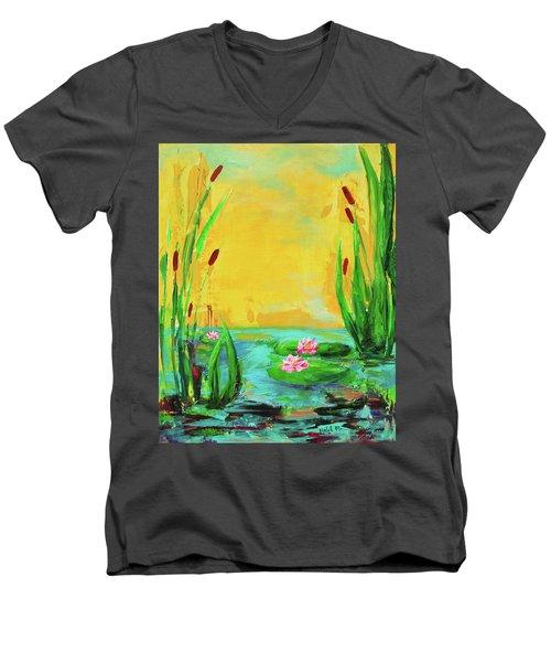 Memories Of The Lake Men's V-Neck T-Shirt