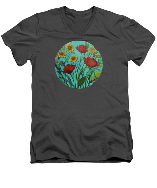 Memories Of The Meadow Men's V-Neck T-Shirt by Mary Wolf