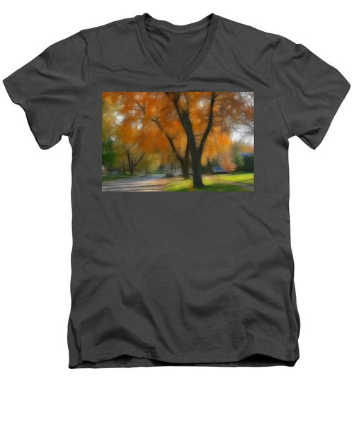 Memory Of An Autumn Day Men's V-Neck T-Shirt