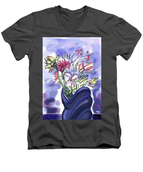 Memory Of Spring Men's V-Neck T-Shirt