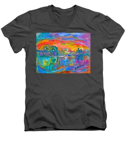 Memphis Spin Men's V-Neck T-Shirt