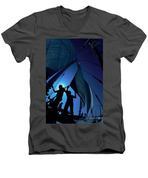 Men At Work Men's V-Neck T-Shirt